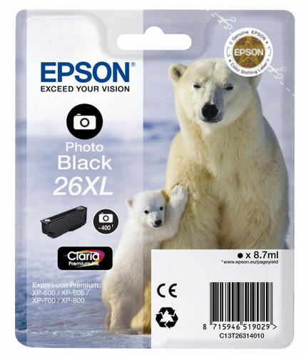 Epson 26 XL Cartridge Photo Black (C13T26314010) Main Image