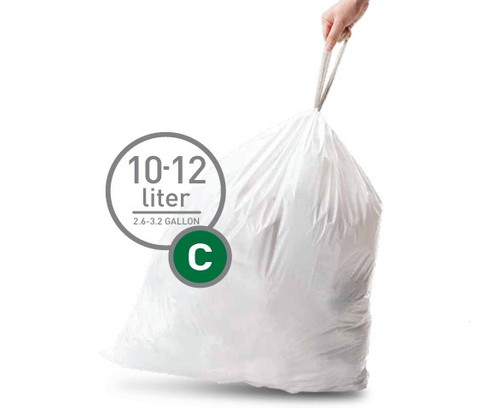 Simplehuman Afvalzakken Code C - 10-12 Liter (20 stuks) Main Image