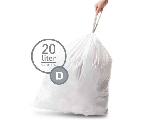 Simplehuman Waste Bag Code D - 20 Liter (20 pieces) Main Image