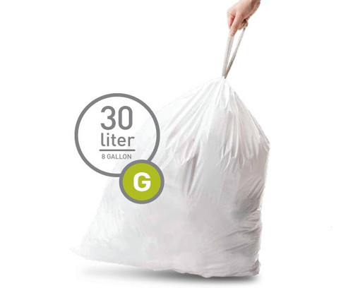 Simplehuman Trash Bag Code G Pocket Liners 30 Liters (60 units) Main Image