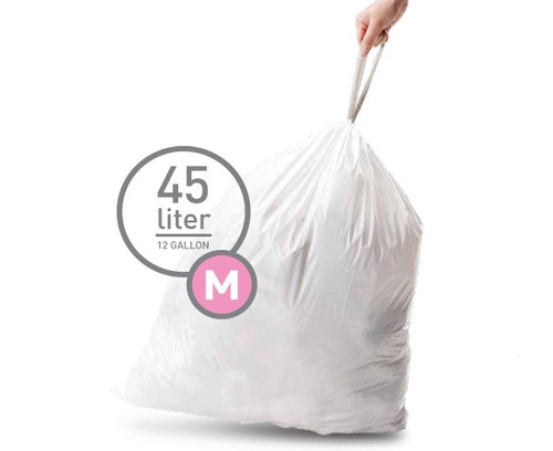 Simplehuman Waste Bag Code M Pocket Liners 45 Liter (60 pieces) Main Image