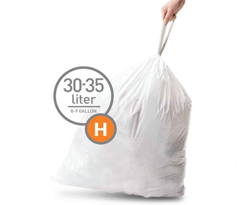 Simplehuman Trash Bag Code H Pocket Liners 30 Liters (60 units) Main Image