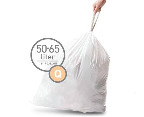 Simplehuman Trash Bag Code Q Pocket Liners 50 Liters (60 units) Main Image