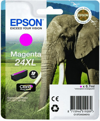 Epson 24 XL Inktcartridge Magenta C13T24334010 Main Image