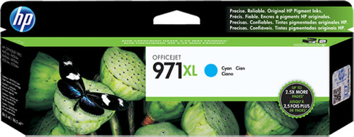 HP 971XL Cyan Ink Cartridge (CN626AM) Main Image