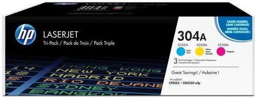 HP 304A LaserJet Toner Tri-pack (CF372AM) Main Image
