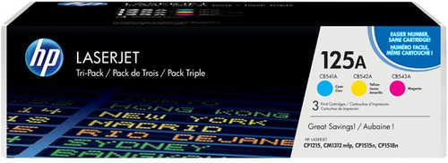 HP 125A LaserJet Toner Tri-pack (CF373AM) Main Image
