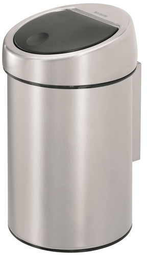 Aanbieding Brabantia Touch Bin 50 Liter.Brabantia Touch Bin 3 Liter Matt Steel Fingerprint Proof Coolblue