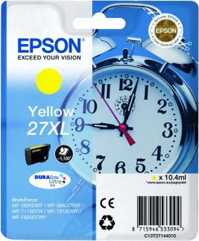 Epson 27XL Cartridge Yellow C13T27144010 Main Image