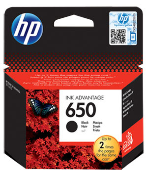 HP 650 Cartridge Black (CZ101A) Main Image