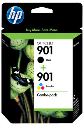 HP 901 Combo Pack 4 Colors (SD519AE) Main Image