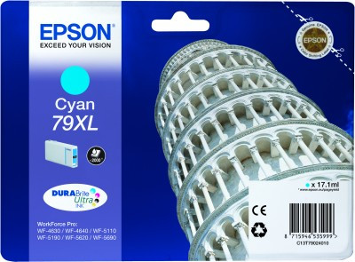 Epson 79 XL Cartridge Cyan C13T79024010 Main Image