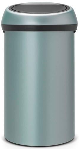 Brabantia 60 Liter.Brabantia Touch Bin 60 Liter Metallic Mint