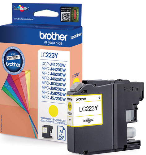 Brother LC-223Y Cartridge Geel Main Image