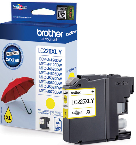 Brother LC-225XLY Cartridge Geel XL Main Image
