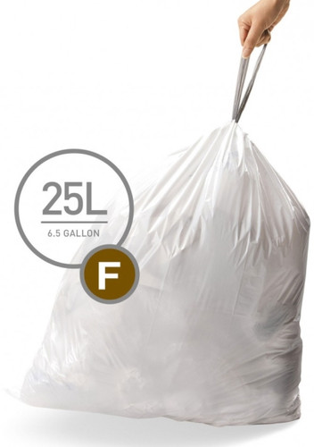 Simplehuman Waste Bag Code F Pocket Liners 25 Liter (60 pieces) Main Image