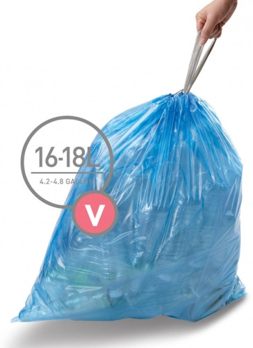 Simplehuman Waste Bag Code V Pocket Liners 16-18 Liter (60 pieces) Main Image