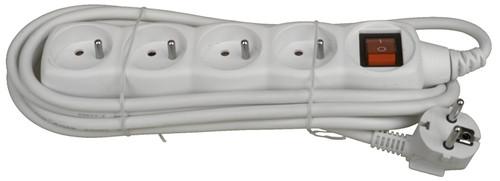 Deltac Power Strip 230V White 3 Meters Main Image