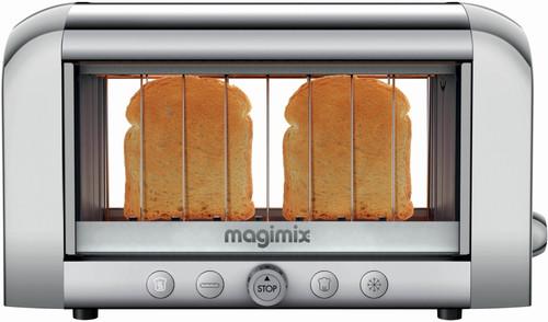 Magimix Le Vision toaster Matt Chrome Main Image