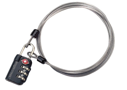 Eagle Creek 3-Dial TSA Lock & Cable Graphite Main Image
