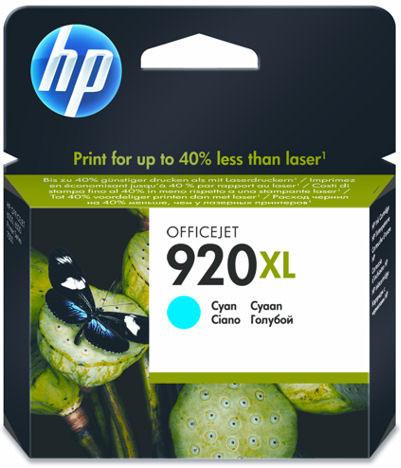 HP 920 Cyan XL Ink Cartridge CD972AE Main Image