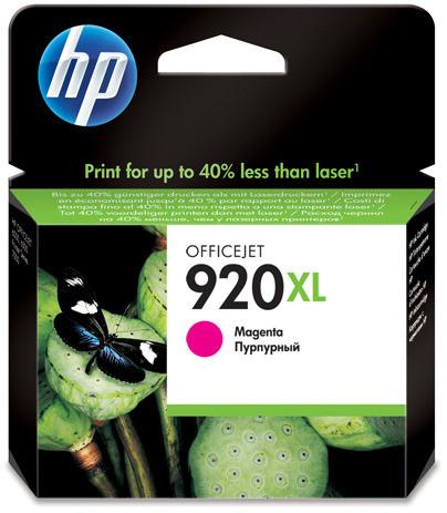 HP 920 Magenta XL Ink Cartridge (red) CD973AE Main Image