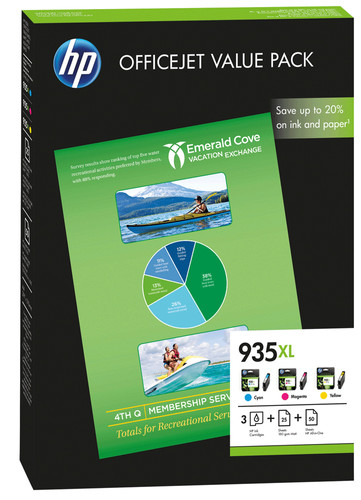 HP 935XL Value Pack (F6U78AE) Main Image