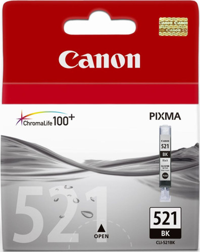 Canon CLI-521BK Black Ink Cartridge (zwart) (2933B001) Main Image