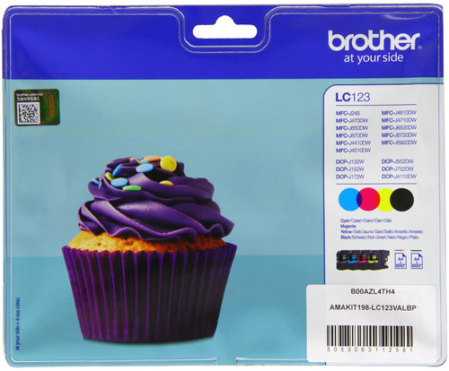 Brother LC-123 Colour Value Pack (BCMY) LC-123VALBP Main Image