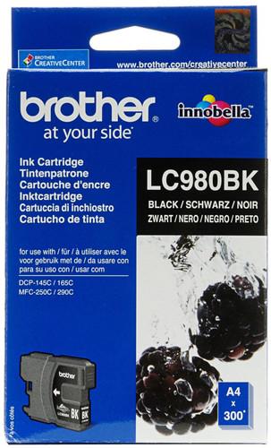 Brother LC-980BK Black Ink Cartridge (Zwart) Main Image