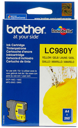 Brother LC-980Y Yellow Ink Cartridge (Geel) Main Image
