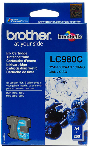 Brother LC-980C Cyan Ink Cartridge (Blue) Main Image