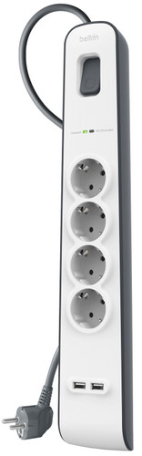 Belkin Surge Protector 4 Outlet 2 meters 2x usb Main Image