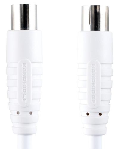 Bandridge Digitale Coax Antennekabel 100 dB 7,5 meter Wit Main Image