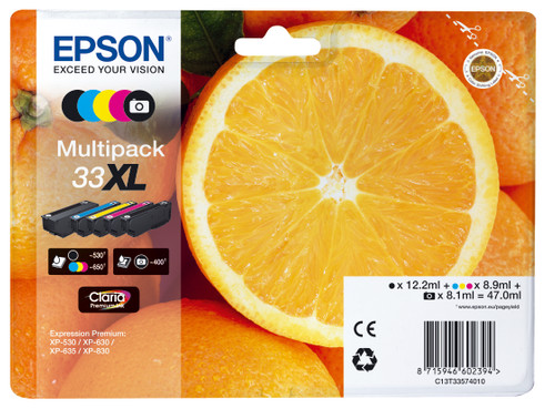 Epson 33 5-Color Pack XL (C13T33574010) Main Image