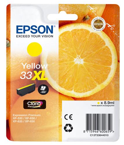 Epson 33 Cartridge Geel XL (C13T33644010) Main Image