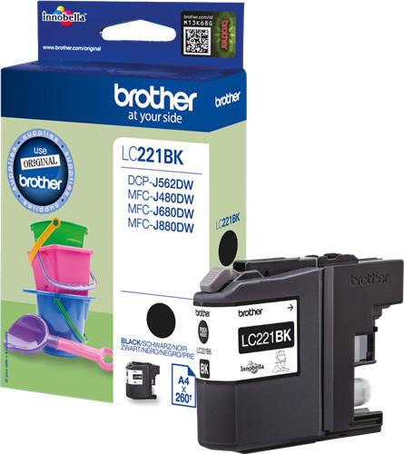Brother LC-221BK Cartridge Black Main Image