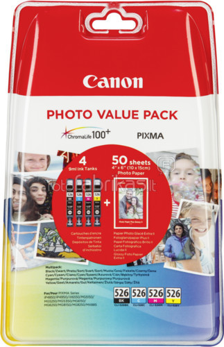 Canon CLI-526 Value Pack (4540B017) Main Image