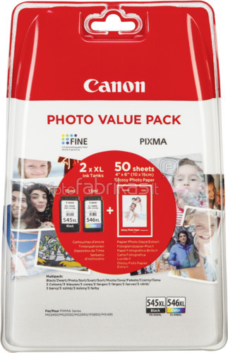 Canon PG-545XL/CL-546XL Value Pack (8286B006) Main Image