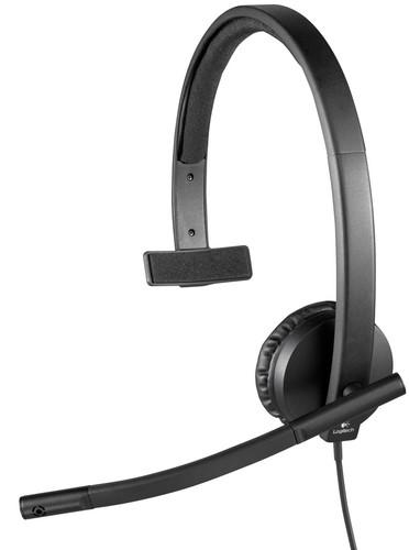 Logitech USB Headset Mono H570e Zwart Main Image