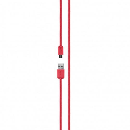 Xqisit Cotton Kabel Micro USB 2.0 1,8m Rood Main Image