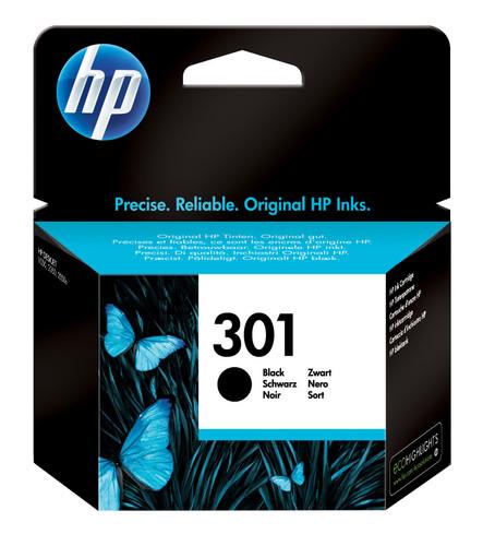 HP 301 Cartridge Black Main Image
