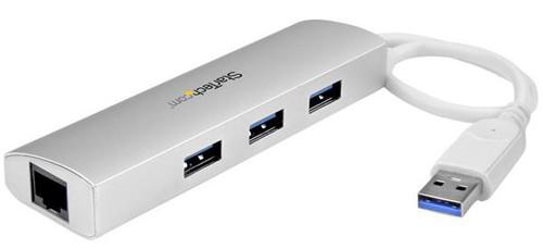 Startech 3-Port USB 3.0 Hub + Gigabit Ethernet Port Main Image
