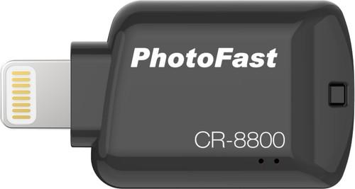Photofast CR-8800 Flashdrive Lightning MicroSD Black Main Image