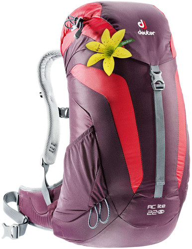 Deuter AC Lite Aubergine/Fire 22L - Slim fit Main Image