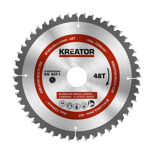 Kreator Universeel Zaagblad 185x30x2.2mm 48T Main Image