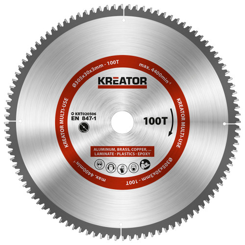 Kreator Universeel Zaagblad 305x30x3mm 100T Main Image