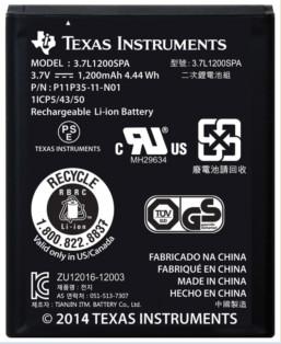 Texas Instruments oplaadbare batterij Main Image