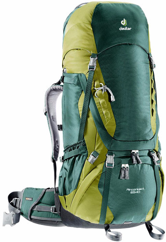 Deuter Aircontact 65 + 10L Forest/Moss Main Image