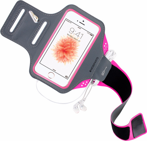 Mobiparts Comfort Fit Sports armband Apple iPhone 5 / 5S / SE Pink Main Image